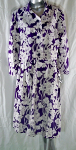 Linen Purple Floral Suit