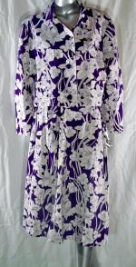 Linen Purple Floral Suit