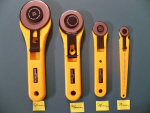 Rotary Cutters, 60mm, 45mm, 28mm, and 18mm