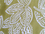 Ethnic Look Leaf Pattern Rayon Fabric