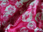 Rose Print Silk Fabric