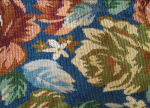 Teal Pattern Tapestry Fabric