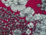 Plum Floral Upholstery Fabric