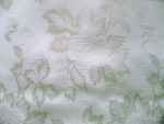 White Floral Upholstery Fabric