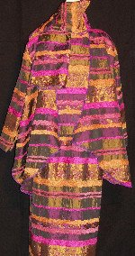 Purple/Gold Jacquard Outfit