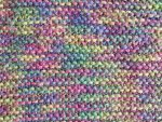 Multi-Colored Purple Acrylic Fabric