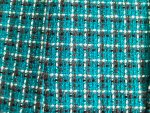 Teal/Black/White Boucle Fabric