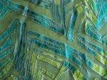 Blue/Green Chiffon Fabric