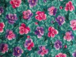 Pink/Teal Floral Cotton Fabric