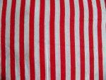 Red/White Stripe Cotton Fabric