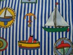 Boats Design Flannel Fabric