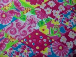 Diamond Floral Flannel Fabric