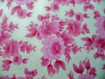 Pink Floral Flannel Fabric