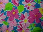 Pink/Blue/Green Floral Flannel Fabric