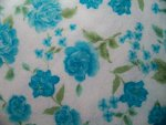 Teal Floral Flannel Fabric