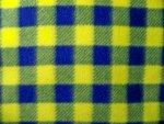 Blue/Yellow Plaid Fleece Fabric