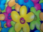 Multi-Color Floral Fleece Fabric
