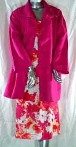 Pink  Linen Jacket and Floral Tank Dress