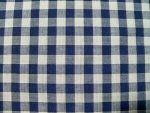Navy Blue Gingham Fabric