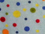 Polka Dot Interlock Knit Fabric