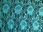 Teal Lace Fabric
