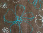 Brown Floral Linen Fabric