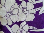 Purple/White Linen Fabric