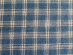 Blue and White Plaid Fabric