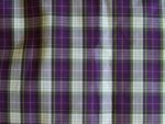 Purple and White Plaid Polyester Fabric