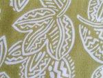 Ethnic Look Leaf Pattern Rayon Fabric