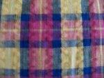 Fuschia/Blue/Yellow Seersucker Fabric