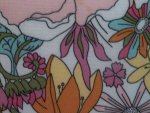 Pink Floral Upholstery Fabric
