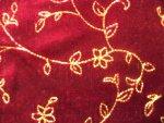 Red Panne Velvet Fabric